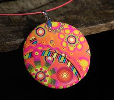 Pendentif - Candy by Dumauvobleu, via Flickr... I love the colors... Love all of it!