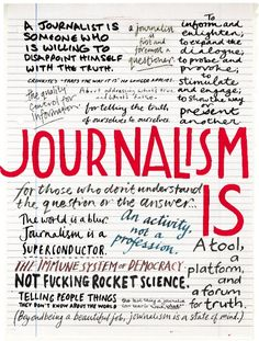 "#article ""In his 1999 book, What Are Journalists For?, which told the story of the civic-journalism movement, Jay Rosen suggested that the question in the title is one our society must ask itself periodically, as times change and the demands on and of journalism change with them. Now is one of those moments.""  (by The Editors @ Columbia Journalism Review)"