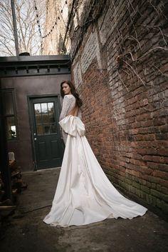 Galia Lahav bow bridal jumpsuit