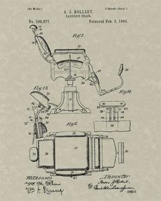 barber chair blueprints - Google Search