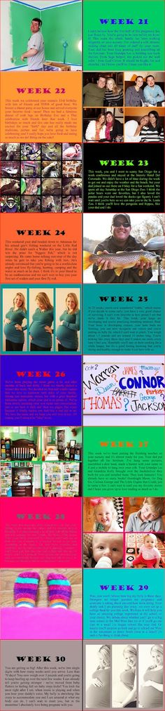 Weekly pregnancy photo book. Going to turn my blog posts into a book for sure!