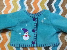 American Girl Doll Clothes  Aqua Fleece by KingsLittleBlessings