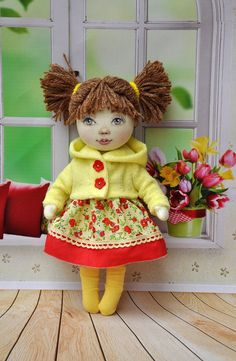 20% discount from 15 May until 30 MayTextile doll, decorative doll,collectible dolls , doll cotton, rag doll