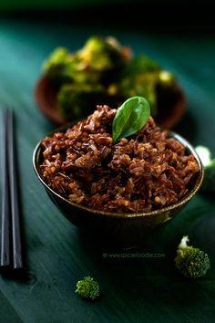 Red Thai Rice by @SpicieFoodie | #rice #thai #redrice #wholegrain #glutenfree