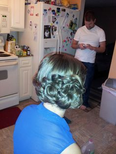 Side. Braided, curled and pinned