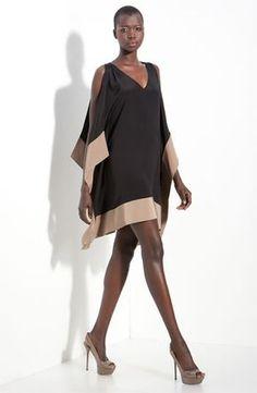 Jay Godfrey Enzo Kimono Sleeve Dress in Black (black/ taupe) Dress Skirt, Dress Up, Kimono Dress, Open Dress, Look Fashion, Womens Fashion, Girl Fashion, Mode Top, Model Look
