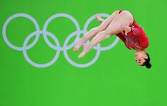 Aly raisman competing on floor during the all around final