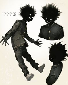 Fantasy Character Design, Character Design Inspiration, Character Art, Mob Psycho 100 Anime, Mob Physco 100, Dark Art Drawings, Creature Concept Art, Creepy Art, Dark Anime