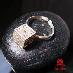 Romantyczna kostka pierścionek www.KuferArt.pl