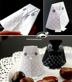 How to make paper owl