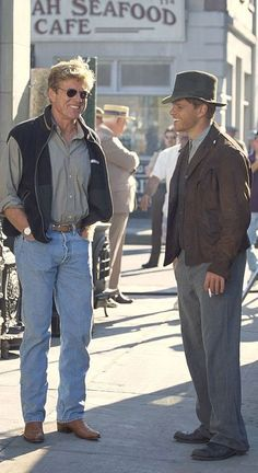 Director Robert Redford with Matt Damon-- The Legend of Bagger Vance