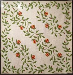 Applique Love Apple Quilt, 1850-1860, Maryse Makes Things: Shelburne Museum in Vermont