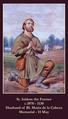 $0.99 - Saint St. Isidore The Farmer Holy Prayer Card + Agriculture #ebay #Collectibles
