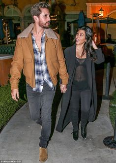 The big reveal: Kourtney Kardashian was seen out on Saturday, with partner Scott Disick, for the first time since giving birth on December 14