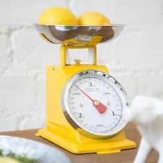 Yellow Retro Kitchen Scales from Rose and Grey