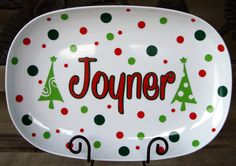 Hey, I found this really awesome Etsy listing at https://www.etsy.com/listing/211532909/personalized-christmas-platter-other