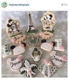 Minnie Mouse in Paris 1st Birthday Theme ~ #MayrasCakePops