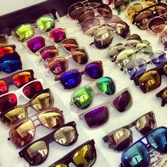 Green or blue mirrored sunglasses for Crew & etc.