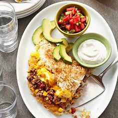 Satisfy hearty appetites with this one-skillet meal of four breakfast favorites: bacon, hash browns, eggs, and cheese.