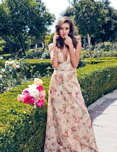 Copy of Virsilia Peach Gown   #gown #contessala #romantic #dress #sequence #summervibes #secretgarden #flowerprint #summervibes #naturalbeauty