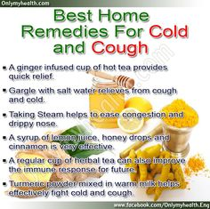 Best Home Remedies for Cold and Cough!!