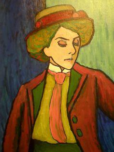 Gabriele Münter ' Portrait of Mrs. von Hartmann', Milwaukee Museum of Art, Milwaukee, Wisconsin