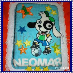 "Torta /cake  decorada con fondant ""Doki"""