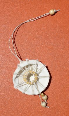 Seashell Wall Hanging Rear View Mirror by homemadehippies on Etsy