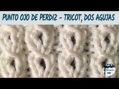 Punto ojo de perdiz - Punto calado #1 - Tricot, dos agujas- Tutorial paso a paso - YouTube