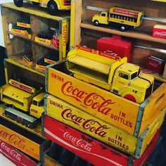 Coca-Cola Crates #vintagecocacola #cocacolacrate #yellowandred #cokecrate #cocacolatruck