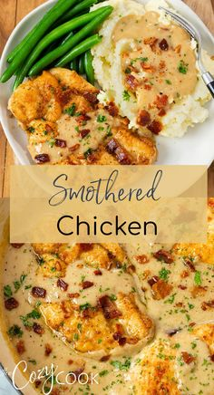 Comida Keto, Cooking Recipes, Healthy Recipes, Best Food Recipes, Fancy Recipes, Diner Recipes, Restaurant Recipes, Best Chicken Recipes, Smothered Chicken Recipes