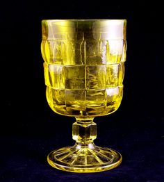 Set of 6 Vintage Viking Art Glass Lemon Yellow Chalices Retro vintage wine or water sized glasses by Viking Art Glass. Vintage Wine, Vintage Kitchen, Retro Vintage, Viking Glass, Glass Museum, Viking Art, Mason Jar Wine Glass, Lemon Yellow, Retro Art