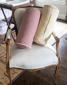 Linen Bolster Pillows Sewing Tutorial   Cedar Hill Farmhouse #countryfrench #decor #decoratingideas #decorating #decoratingtips #frenchcountrydecor #frenchcountrystyle #sewingtips
