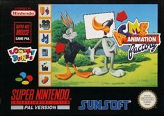 For ACME Animation Factory on the Super Nintendo, a box shot for the EU - release on GameFAQs. Looney Tunes, Playstation, Create Your Own Cartoon, Super Nintendo Games, Videogames, Sega Master System, Animation, Box Art, Anime