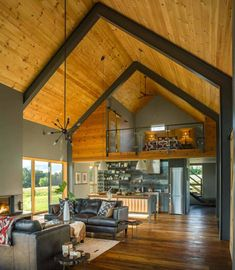 33 Amazing Rustic Tiny House Design Ideas - Many of us have thought about downsizing our homes at one time or another. But, maybe not to the extreme that a tiny house can take it. Sure a tiny ho. Modern Barn House, Barn House Plans, Small House Plans, Modern Cottage, Barn Plans, Loft House, Tiny House Cabin, Tiny House Living, Cabin With Loft