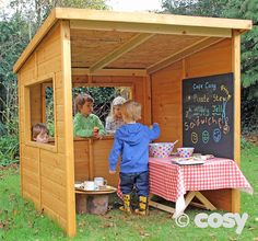 TAKOMA OPEN SHED/CAFE - Role Play and Play Houses - Early Years - Cosy Direct
