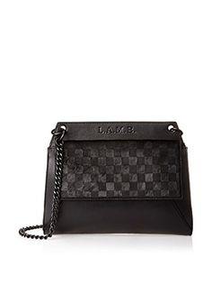 L.A.M.B. Edsel Shoulder Bag (Black)
