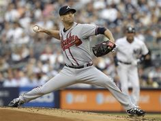 Atlanta Braves pitcher Tim Hudson #15 works in the first inning of the Braves baseball game against the New York Yankees