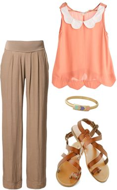 """""""Scalloped Peaches"""" by crcockrell on Polyvore"""