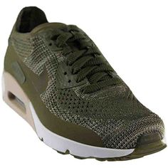 buy popular 0eb94 4a9a0 Air Max 90 Ultra 2.0 Flyknit Olive Green White Mens Running 875943 200 *  Check out