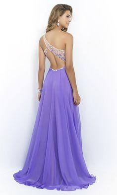 279fef37a2c Blush One-Shoulder Pastel Prom Gown 9965 Lange Anlasskleider