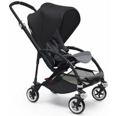 Bugaboo Bee3 Stroller - Black - Grey Melange - Black