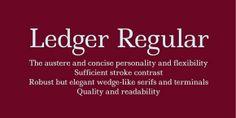 free fonts Ledger Regular 01