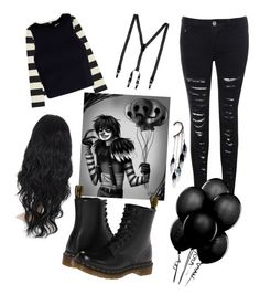 """""""laughing Jack cosplay"""" by crazymofoxd1 ❤ liked on Polyvore featuring Glamorous, Uniqlo, T By Alexander Wang, Dr. Martens, Dolce&Gabbana and Anni Jürgenson"""