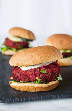 Vegan Black Bean Beet Burgers   www.sweetpotatosoul.com