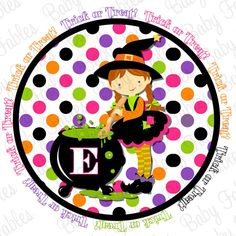 Halloween Iron On  Cute Witch by babyfables on Etsy, $5.00      Website has other holidays as well