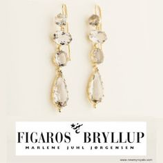 Figaros Bryllup Smoke Quartz Earrings