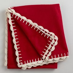 One of my favorite discoveries at WorldMarket.com: Red Boiled Wool Throw
