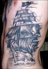 Pirate Ship Tattoo.  This is so pissy!