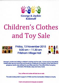 Children's Clothes and Toy Sale!